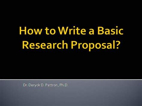 Example of abstract in research proposal